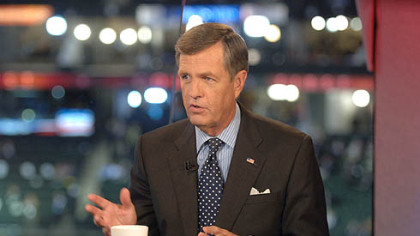 Brit Hume on the set of his program at the 2008 Republican National Convention.