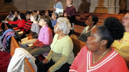 The Pittsburgh Gospel Choir rehearses.