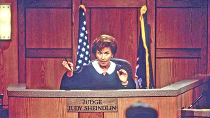 &quot;Judge Judy,&quot; withJudge Judy Sheindlin presiding, leads court reality shows in ratings.