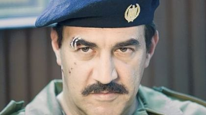 "Igal Naor plays evil dictator Saddam Hussein in HBO's ""House of Saddam."""