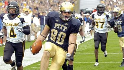 Pitt tight end Nate Byham has 17 receptions this season, but four were Friday.