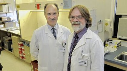 Dr. John Lister and Dr. Gary Gilmore of West Penn Hospital led research that points to a possible advantage from fetal cells remaining in a mother's body long after giving birth.