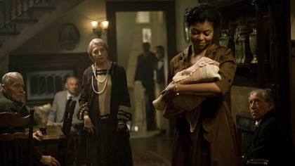 "Taraji P. Henson, right, plays the woman who mothers the title character in ""Benjamin Button."" Henson received a Screen Actors Guild Award supporting actress nomination for the role."