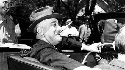 President Franklin D. Roosevelt in 1939 at Warm Springs, Ga.