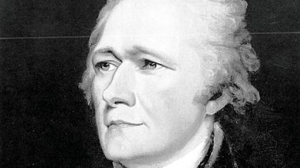 Alexander Hamilton, shown in a circa 1804 portrait  by John Trumbull, is criticized for his economic policies in a new book.