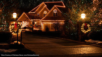 Christmas Decor is a company that will install lights and other decorations at your home.