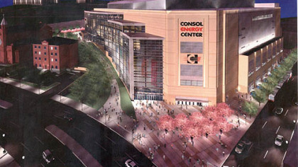 An artist&#039;s rendering of the new Consol Energy Center.